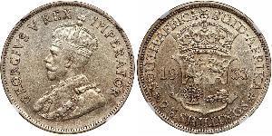 2.5 Shilling Südafrika Silber George V (1865-1936)