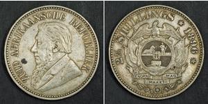 2.5 Shilling Südafrika Silber Paul Kruger (1825 - 1904)