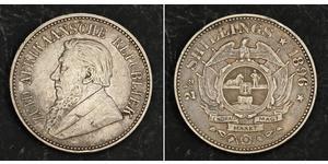 2.5 Shilling South Africa Silver Paul Kruger (1825 - 1904)