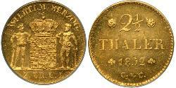 2.5 Thaler States of Germany Gold