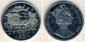 2,8 Ecu Gibraltar 銅/镍 伊丽莎白二世 (1926-)
