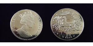 2,8 Ecu Gibilterra Rame/Nichel Elisabetta II (1926-)