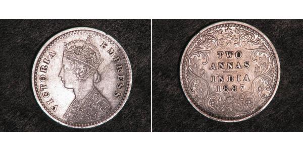2 Anna Raj britannique (1858-1947) Argent Victoria (1819 - 1901)
