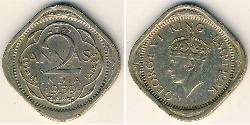 2 Anna India (1950 - ) Níquel/Cobre Jorge VI (1895-1952)
