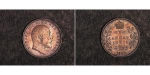 2 Anna Britisch-Indien (1858-1947) Silber Eduard VII (1841-1910)