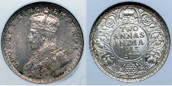 2 Anna British Raj (1858-1947)  George V of the United Kingdom (1865-1936)