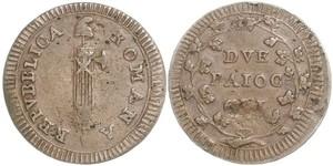 2 Baiocco Estados Pontificios (752-1870) Cobre