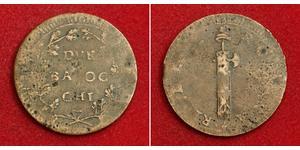 2 Baiocco États pontificaux (752-1870) Cuivre