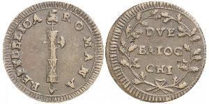 2 Baiocco Kirchenstaat (752-1870) Kupfer
