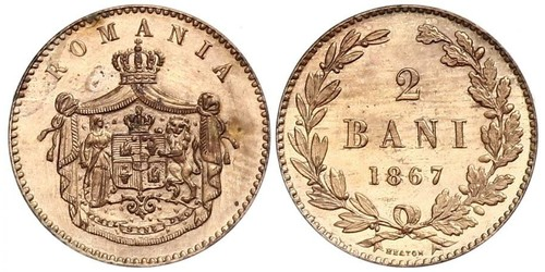 2 Ban Romanian Principalities (1859-1881) Cobre