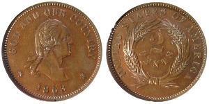 2 Cent 美利堅合眾國 (1776 - ) 銅