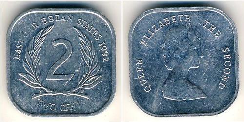 2 Cent  Aluminium Elizabeth II (1926-)