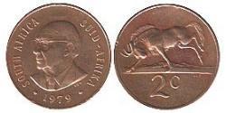 2 Cent Sudáfrica Bronce