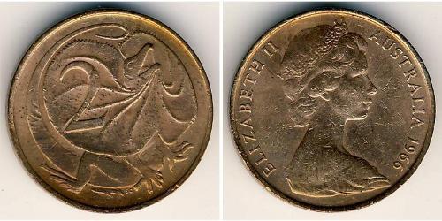 2 Cent Australie (1939 - ) Bronze Elizabeth II (1926-)