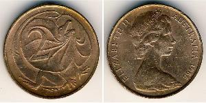 2 Cent Australien (1939 - ) Bronze Elizabeth II (1926-)