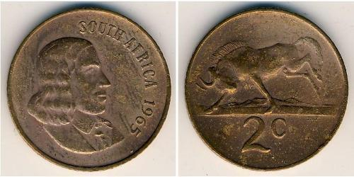 2 Cent Südafrika Bronze