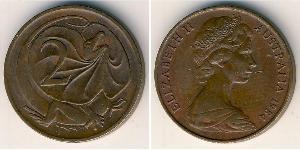 2 Cent Australia (1939 - ) Bronzo Elisabetta II (1926-)