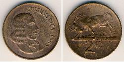 2 Cent Sudafrica Bronzo