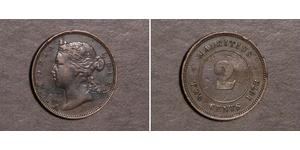 2 Cent Maurice  Victoria (1819 - 1901)