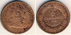 2 Centavo Honduras Bronze