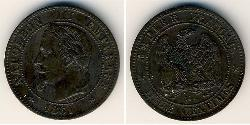 2 Centavo Second French Empire (1852-1870) Bronze Napoleon III (1808-1873)