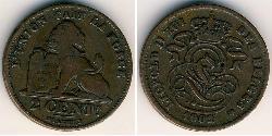2 Centavo Belgium Copper