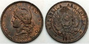 2 Centavo Argentinien (1861 - ) Cuivre