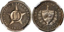 2 Centavo Cuba Níquel/Cobre