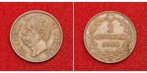 2 Centesimo Kingdom of Italy (1861-1946) Copper Umberto I (1844-1900)