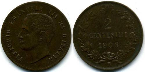 2 Centesimo Kingdom of Italy (1861-1946) Copper
