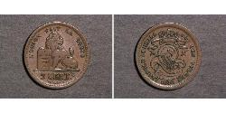2 Centime Belgien Bronze
