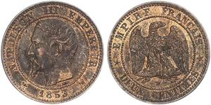 2 Centime Segundo Imperio francés (1852-1870) Cobre Napoleon III (1808-1873)