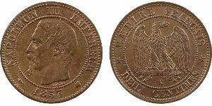 2 Centime Second French Empire (1852-1870) Copper Napoleon III (1808-1873)