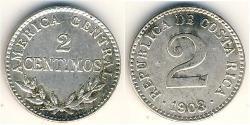 2 Centimo Costa Rica Argent