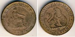 2 Centimo Kingdom of Spain (1814 - 1873) Copper