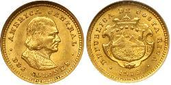 2 Colon Costa Rica Gold Christopher Columbus (1451 - 1506)