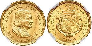2 Colon Costa Rica Gold Christopher Columbus (1451 - 1506)