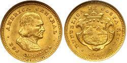 2 Colon Costa Rica Oro Cristoforo Colombo (1451 - 1506)
