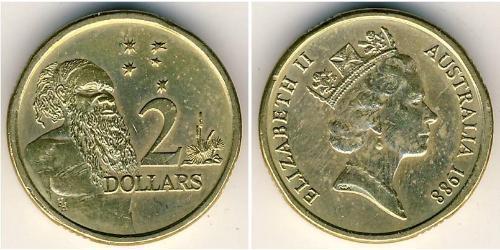 2 Dólar Australia (1939 - ) Aluminio/Bronce