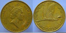 2 Dólar Nueva Zelanda Aluminio/Bronce Isabel II (1926-)