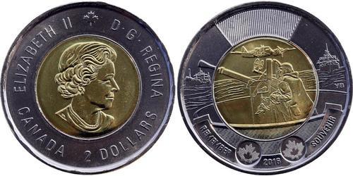 2 Dólar Canadá Latón Isabel II (1926-)