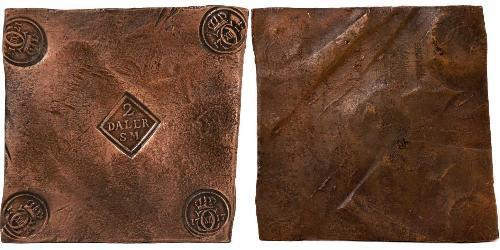 2 Daler Sweden Copper