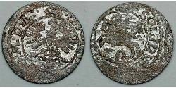 2 Denario / 1 Solidus Gran Ducado de Lituania (1236 - 1791) Vellón Plata Sigismund III