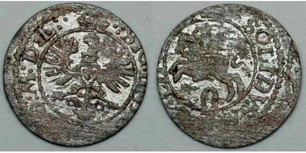 2 Denarius / 1 Solidus Grand Duchy of Lithuania (1236 - 1791) Billon Sigismund III of Poland