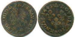 2 Dinar Frankreich Kupfer