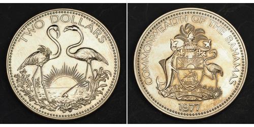 2 Dollar Bahamas 銅/镍