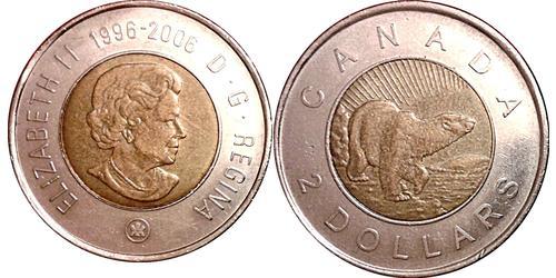 2 Dollar 加拿大 青铜/镍 伊丽莎白二世 (1926-)