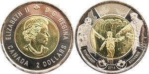 2 Dollar Canada Brass Elizabeth II (1926-)