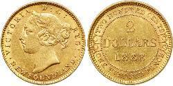 2 Dollar Vereinigtes Königreich von Großbritannien und Irland (1801-1922) Gold Victoria (1819 - 1901)