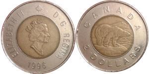 2 Dollar Canada Nickel Elizabeth II (1926-)